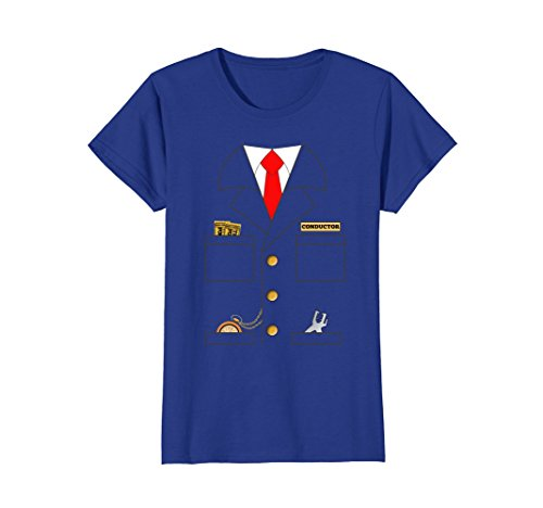 Womens Train Conductor Shirt Costume | Adults | Kids Small Royal Blue