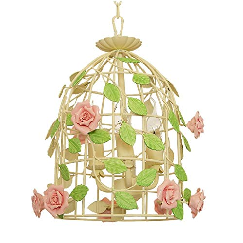 Nwn Chandelier Birdcage Creative Wrought Iron Garden Bedroom Balcony Light Fixture
