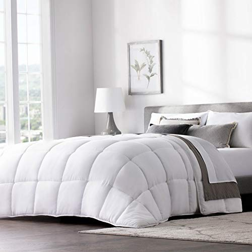Hemau Quilted Hotel-Style Comforter - Use as Duvet Insert or Stand-Alone Comforter - Hypoallergenic - Great for All Seasons - Corner Duvet Tabs - California King - Classic White | Style 503193524