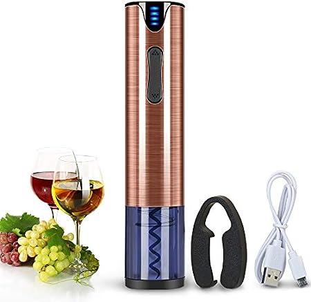Abrebotellas de vino eléctrico recargable sacacorchos abridor con cortador de papel de aluminio Materiales de acero inoxidable