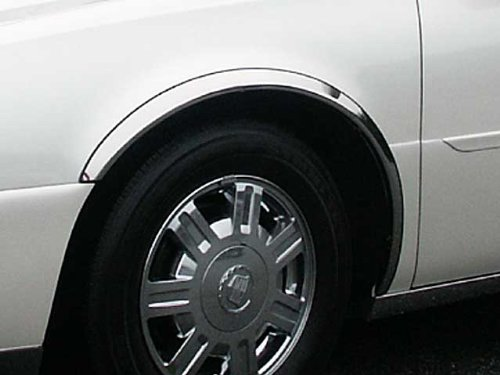 DEVILLE/DTS 2000-2011 CADILLAC (4 Pc: Stainless Steel Fender Trim - Clip on or screw in, hardware included - 2