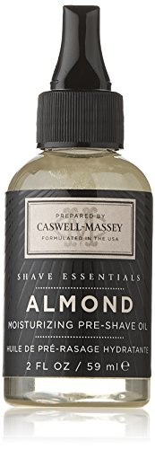 Caswell-Massey Pre-Shave Oil, Almond, 2.0 - Face Shaped Almond