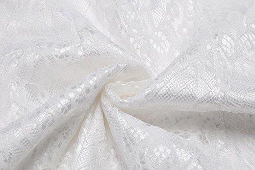 Spalla Vestito Partito Donne Pizzo Freddo Sole Una Cindere In Da Floreale Estate Linea Bianco Cinturino Di Ix7UqpwT