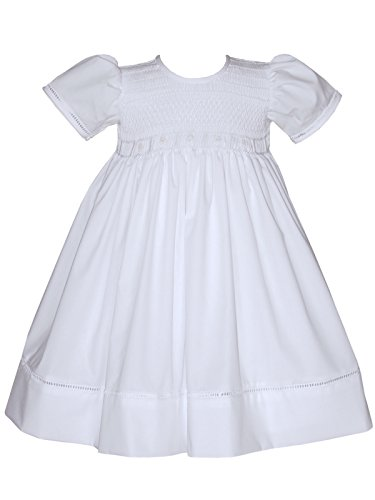 Smocked First Communion Dress - Carouselwear Hand Smocked White Communion Girls Dress Christening Gown