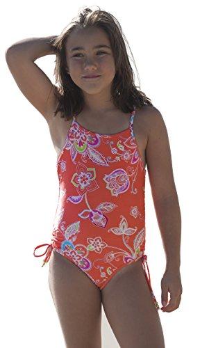 Point Conception Girls 4-10 Romance Floral 1 Piece Swimsuit