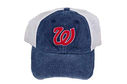 - American Needle Washington Senators Embroidered Logo Washed Twill and Mesh Baseball Cap Navy/Ivory