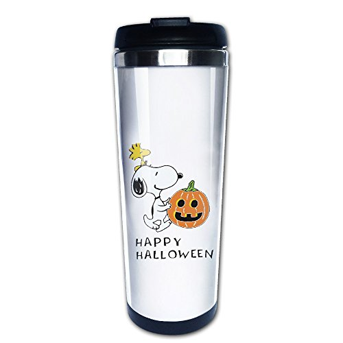 Happy Halloween Snoopy Pumpkin Travel Coffee Mug Water Bottle
