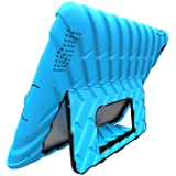 Apple iPad 2 iPad 3 iPad 4 Hideaway with Stand Blue Black Gumdrop Cases Silicone Rugged Shock Absorbing Protective Dual Layer Cover Case