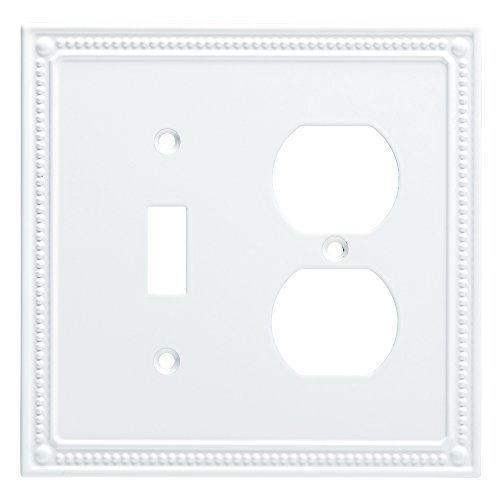 (Franklin Brass W35062-PW-C Classic Beaded Switch/Duplex Wall Plate/Switch Plate/Cover, White)