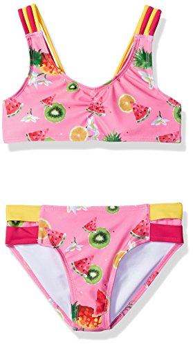 (Jantzen Big Little Girls Chiquita Fruit Print Bikini, Flower, 10)