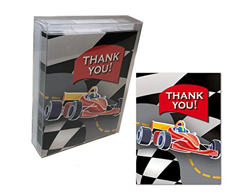 (Race Car Thank You Note Card - 18 Boxed Cards & Envelopes )