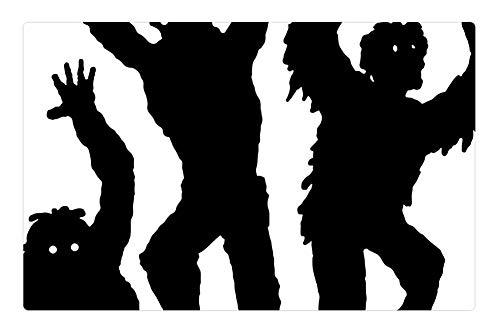 Tree26 Indoor Floor Rug/Mat (23.6 x 15.7 Inch) - Zombies Halloween Monster Silhouette Undead Scary -