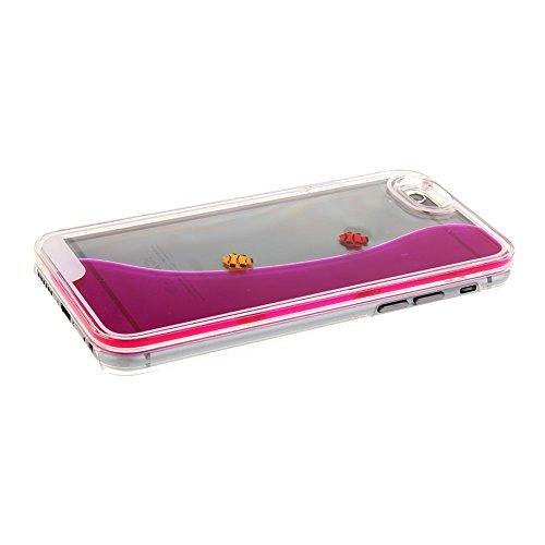 iPhone 6S funda, iPhone 6 caja, diseño creativo nsstar flashsellerz [fluido líquido] [peces] ebuygb carcasa rígida para Apple iPhone 6S/6 (11,94 cm) hot pink