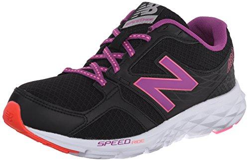 New Balance Womens W490LB3 Running Shoe, Black/Purple, 12 B US