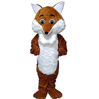 Long Hair Fox Mascot Costume Cartoon Character Adult Sz Langteng?TM?