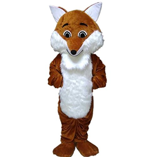 Long Hair Fox Mascot Costume Cartoon Character Adult Sz Lang