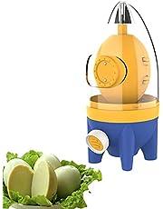 Hand Powered Golden Egg Maker, Portable Household Egg Yolk Protein Blender, Egg Scrambler Silicone Shaker Whisk with Pulling Rope