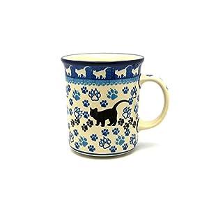 Polish Pottery Mug – Big Straight Sided – Boo Boo Kitty
