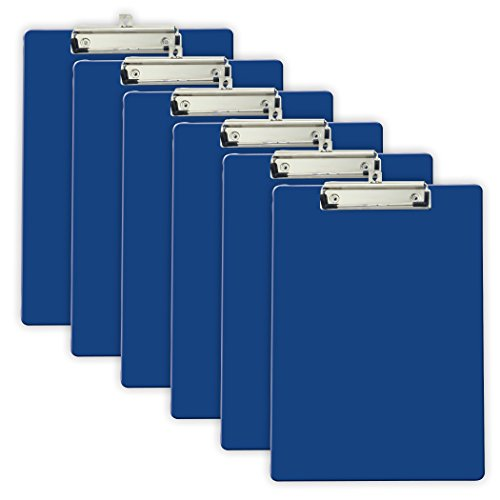 Officemate Recycled Plastic Clipboard, Letter Size, Blue, Pack of 6 (83081) ()