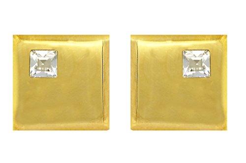 Fadkart Designer Gold Plated White Swarovski Cufflinks For (Designer Gold Plated Cufflinks)