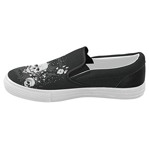 InterestPrint Cool Sugar Skull Casual Slip-on Canvas Womens Fashion Sneakers Shoes FIWvzk