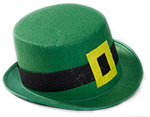 St.Pat Grn Felt Leprechaun Hat, Green
