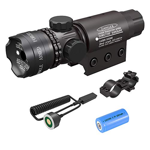Feyachi Tactical Green Laser Sight with Picatinny Rail Mount - Include Barrel Mount Cable Switch (Best Green Laser For Ar 15)