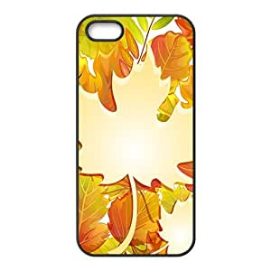 Autumn And Leaves Hight Quality Plastic Case for Iphone 5s