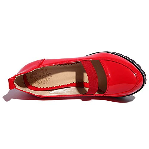 5 Rouge 36 SDC05880 Red Plateforme Femme AdeeSu qT1YRA