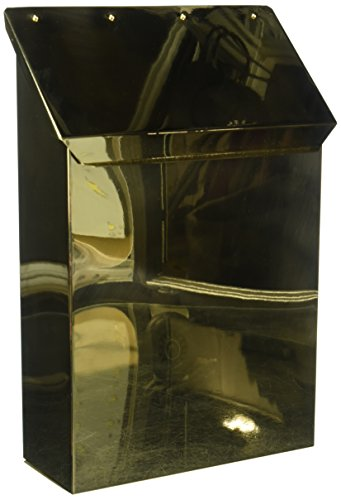 Qual Arc Vertical Mailbox in Smooth Polished Brass Finish