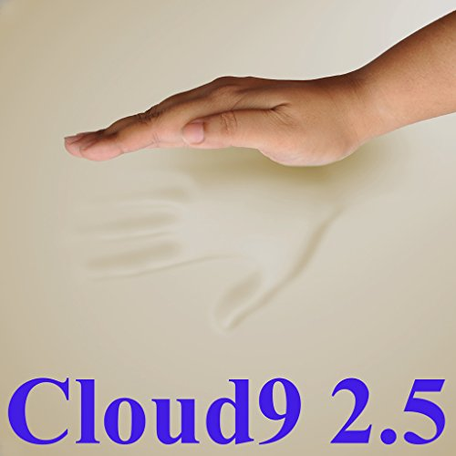Price comparison product image 2.5 Cloud9 Gel-Enhanced Twin 2 Inch 100% Visco Elastic Memory Foam Mattress Topper