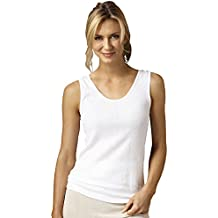 Indera 100% Cotton Rib Knit Camisole, 3-pk- Misses, Womens