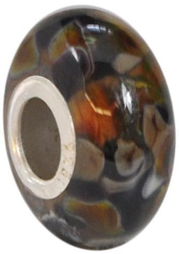 Fenton Art Glass Granite Bead - Handmade Lampwork Glass USA Made Williamstown, West Virginia