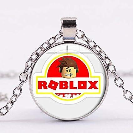 r logo roblox Amazon Com Pop Game Roblox Long Necklace Anime Boy Figure Face R Logo Glass Photo Cabochon Toy Pendant Chain Necklace Fan Souvenir Arts Crafts Sewing