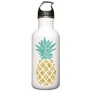 CafePress - Golden Pineapple Water Bottle - Stainless Steel Water Bottle, 1.0L Sports Bottle
