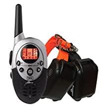ObeDog Ultra Dual V2 Rechargeable and Full Waterproof Dog Training Collar with Amber LCD Remote, Vibration/Static Shock/Tone/Locate Stimulations for All Dogs