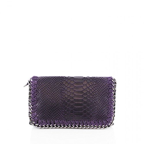 Womens Latest Purple Skin Leather Genuine Classy Snake Elegant Designer Purse Handbag rRXRH4qWn