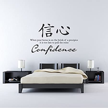 Azutura Confidence Wall Sticker Chinese Symbol Quote Wall Decal