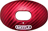 Battle Oxygen Carbon Chrome Football Mouthguard-Red