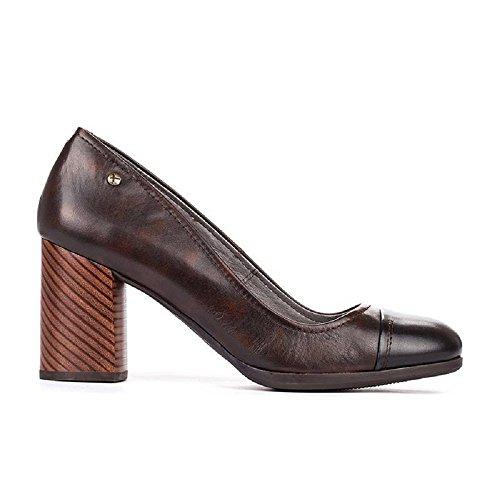Vestir Coñac Pikolinos de Zapatos Mujer Piel Para de Negro BwZgw
