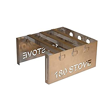 180 STOVE - Emergency Stove, Backpacking Stove, Camp Stove - Stainless Steel - U.S.A. Made