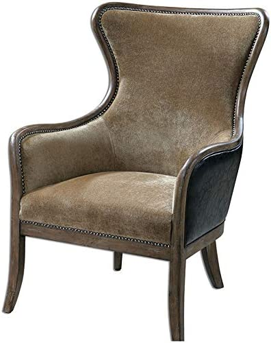 Uttermost Snowden Wing Chair in Tan