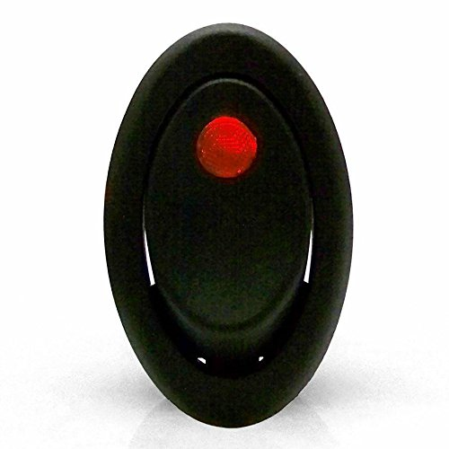 Keep It Clean 125544 Red 20 Amp/12V Oval LED Rocker Switch by Keep It Clean