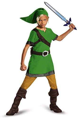 Link Classic Costume, Large (Legend Of Zelda Link Costume Kids)