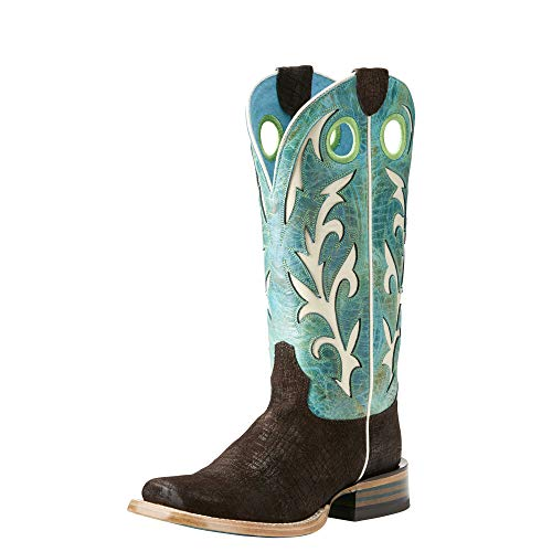 Ariat Women's Chute Out Work Boot, Chocolate Hippo Print, 11 B US