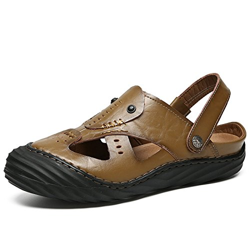 Sandali Sandali Sandali Casual Baotou Nuovi Sandali In Pelle Da Uomo Yoxong Moda Sandali Da Spiaggia khaki 918bf9