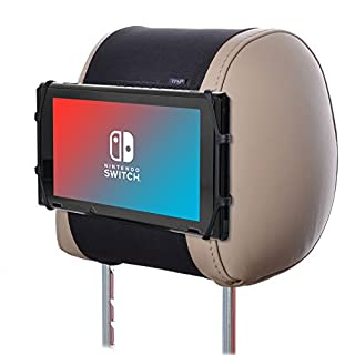 TFY Car Headrest Mount Silicon Holder for Game Machine Nintendo Switch and Other tablets