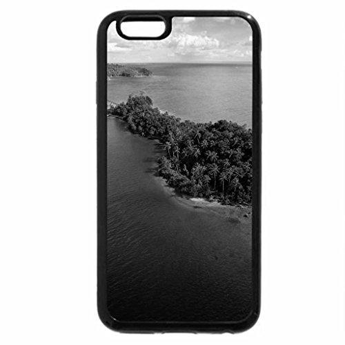iPhone 6S Plus Case, iPhone 6 Plus Case (Black & White) - Palm Islot