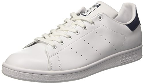 adidas Stan Smith, Zapatillas Hombre, Blanco (Running White Footwear/Running White/Fairway 0), 50 EU Blanco (Running White/running White/new Navy 0)
