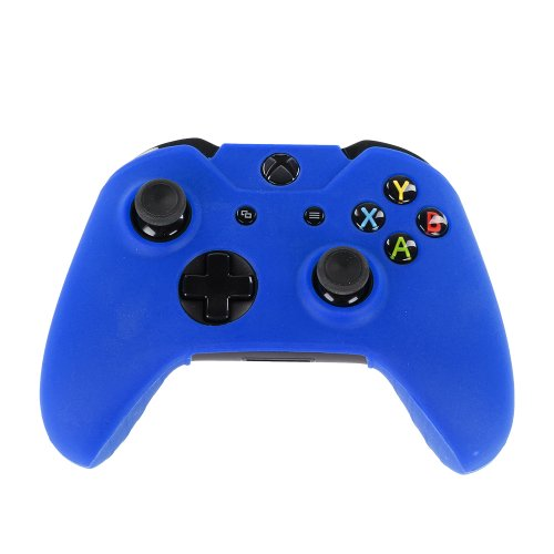 Xbox Nfl Pad (TNP Xbox One Controller Case (Navy Blue) - Soft Silicone Gel Rubber Grip Case Protective Cover Skin for Xbox One Wireless Game Gaming Gamepad Controllers [Xbox One])